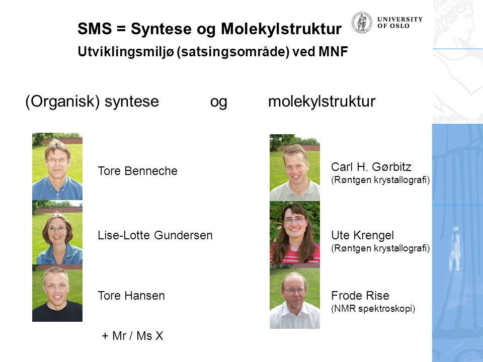 SMS = Syntese og Molekylstruktur