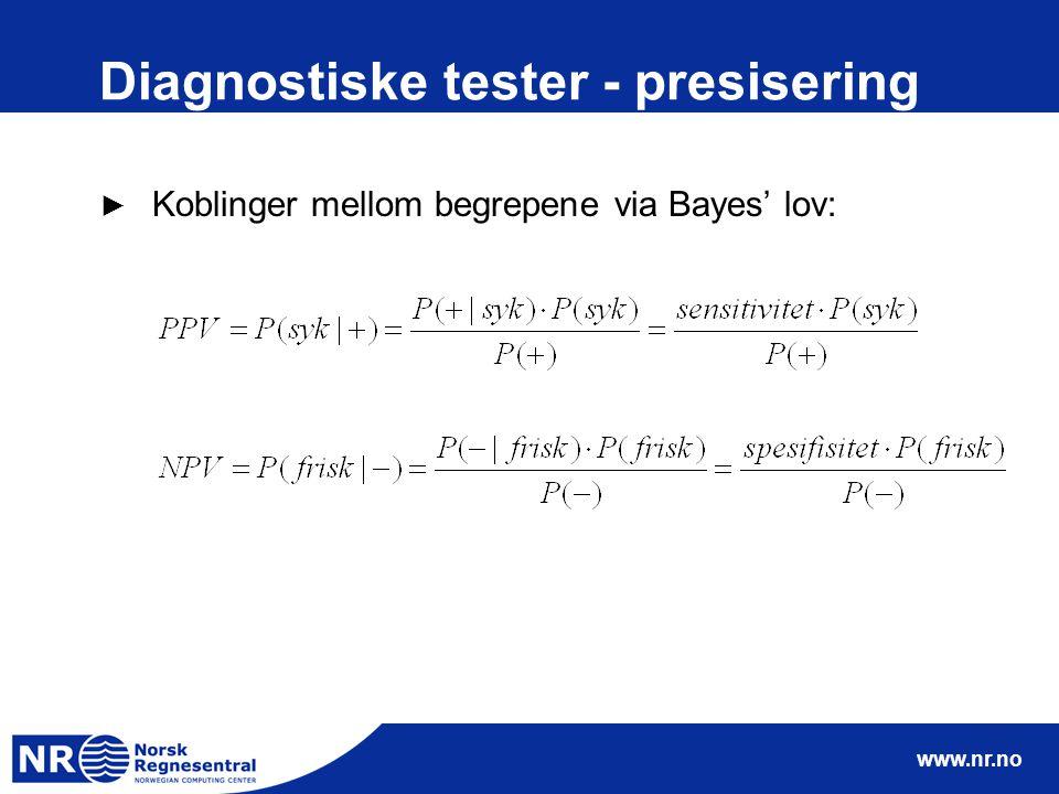 Diagnostiske tester - presisering