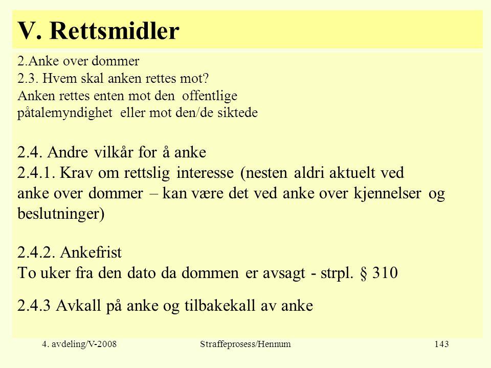 Straffeprosess/Hennum