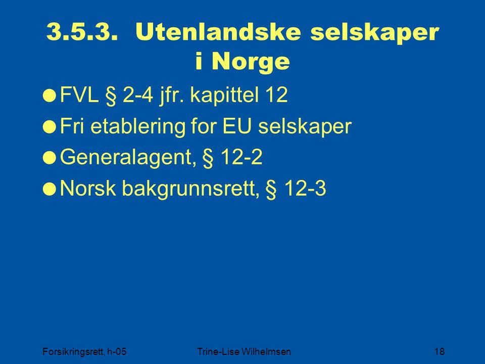 3.5.3. Utenlandske selskaper i Norge