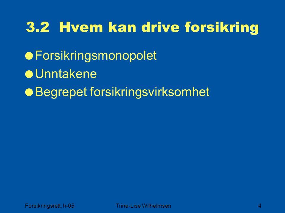 3.2 Hvem kan drive forsikring