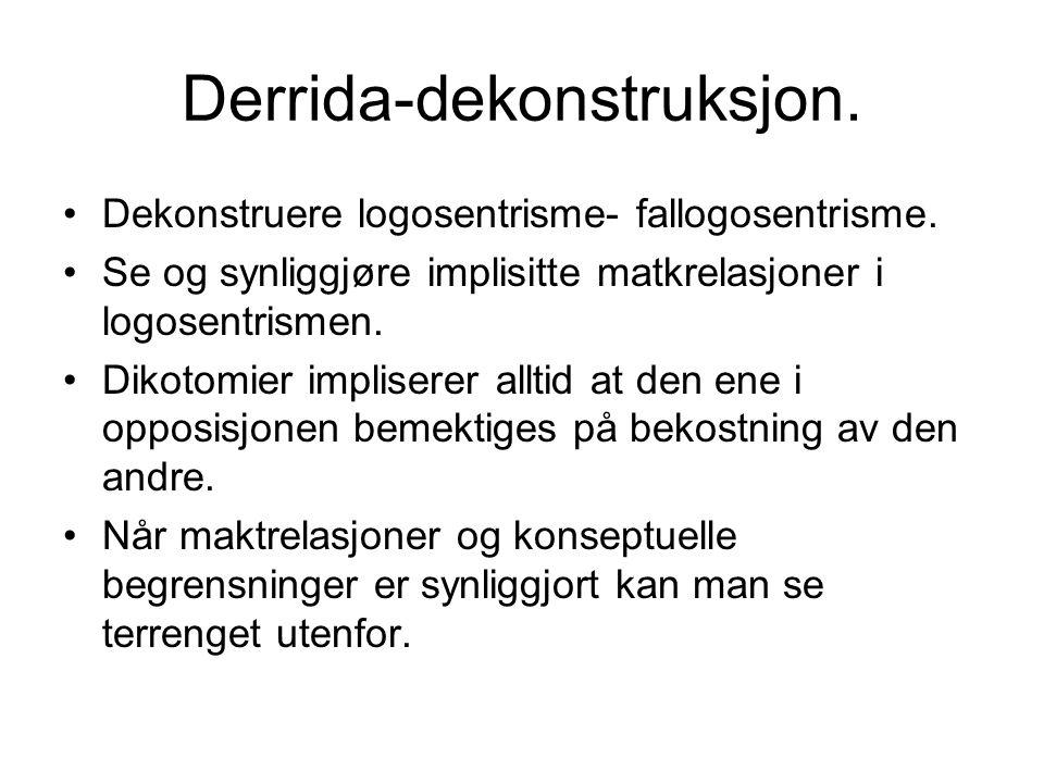 Derrida-dekonstruksjon.