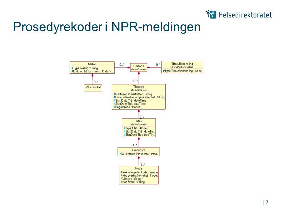 Prosedyrekoder i NPR-meldingen