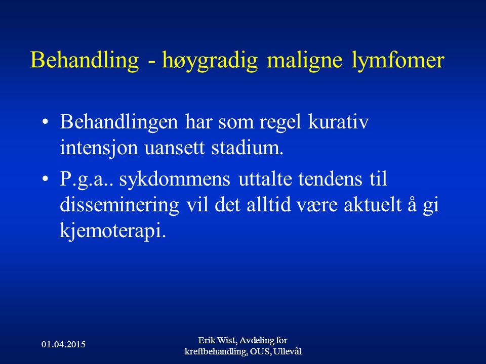 Behandling - høygradig maligne lymfomer