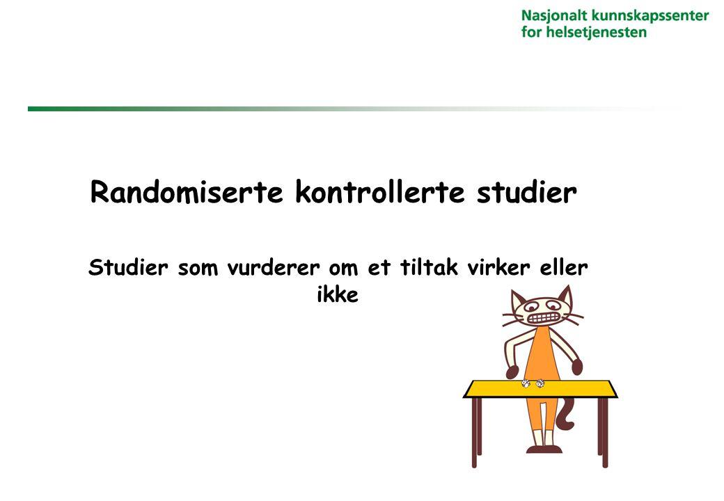 Randomiserte kontrollerte studier