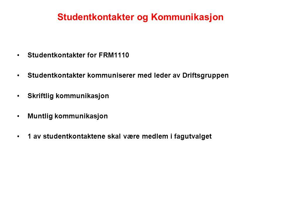 Studentkontakter og Kommunikasjon