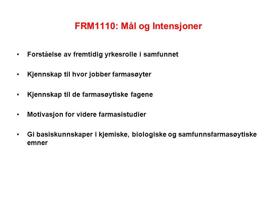 FRM1110: Mål og Intensjoner