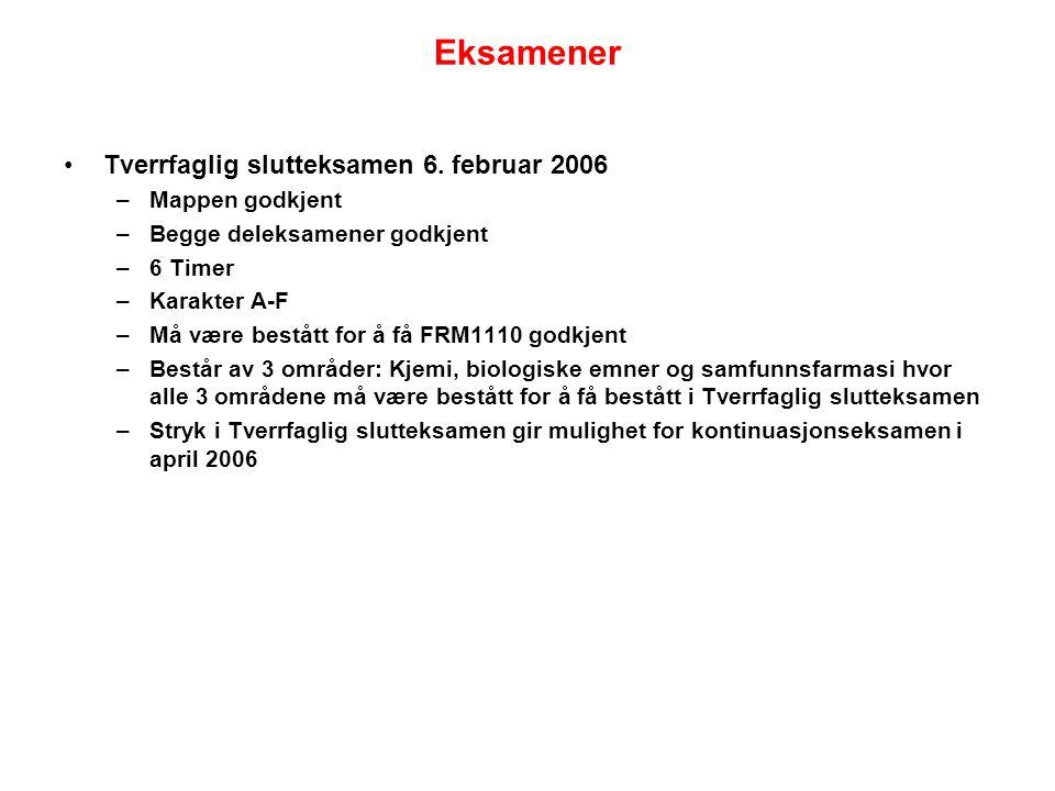 Eksamener Tverrfaglig slutteksamen 6. februar 2006 Mappen godkjent