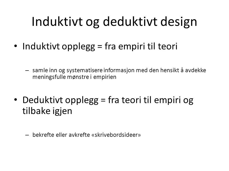 Induktivt og deduktivt design