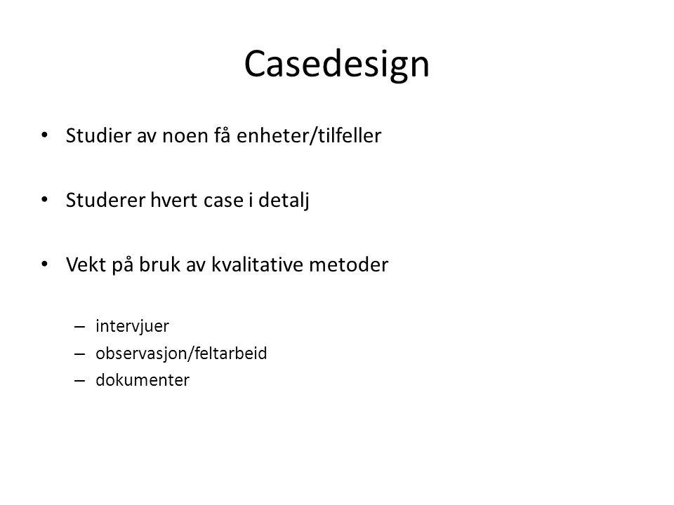 Casedesign Studier av noen få enheter/tilfeller
