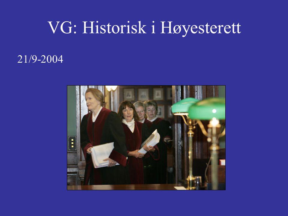 VG: Historisk i Høyesterett