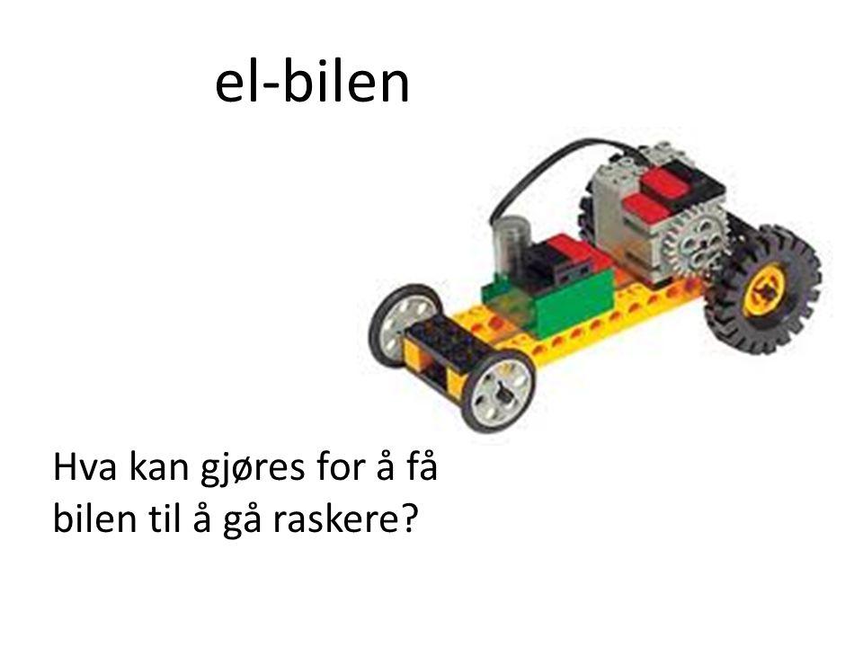 el-bilen Hva kan gjøres for å få bilen til å gå raskere
