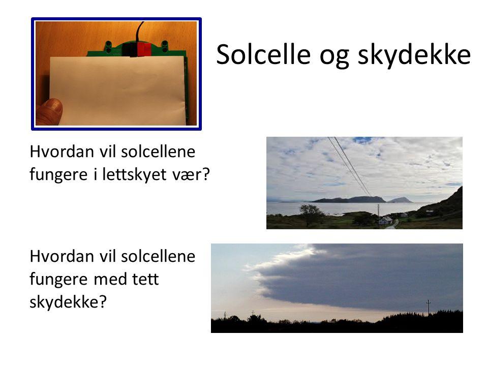 Solcelle og skydekke Hvordan vil solcellene fungere i lettskyet vær