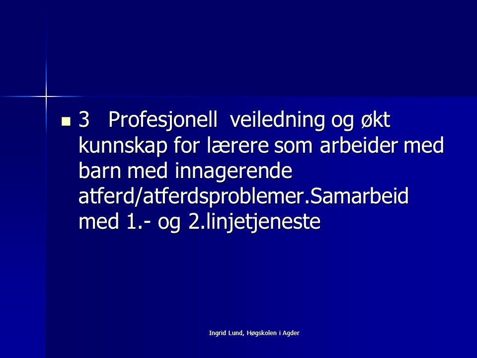 Ingrid Lund, Høgskolen i Agder