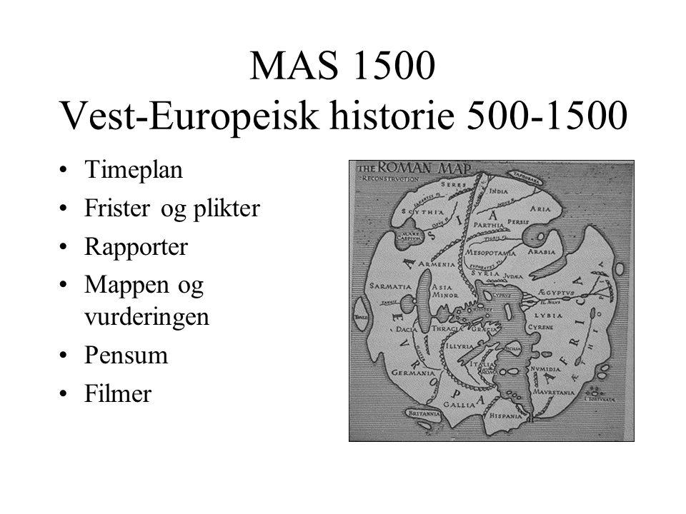 MAS 1500 Vest-Europeisk historie 500-1500