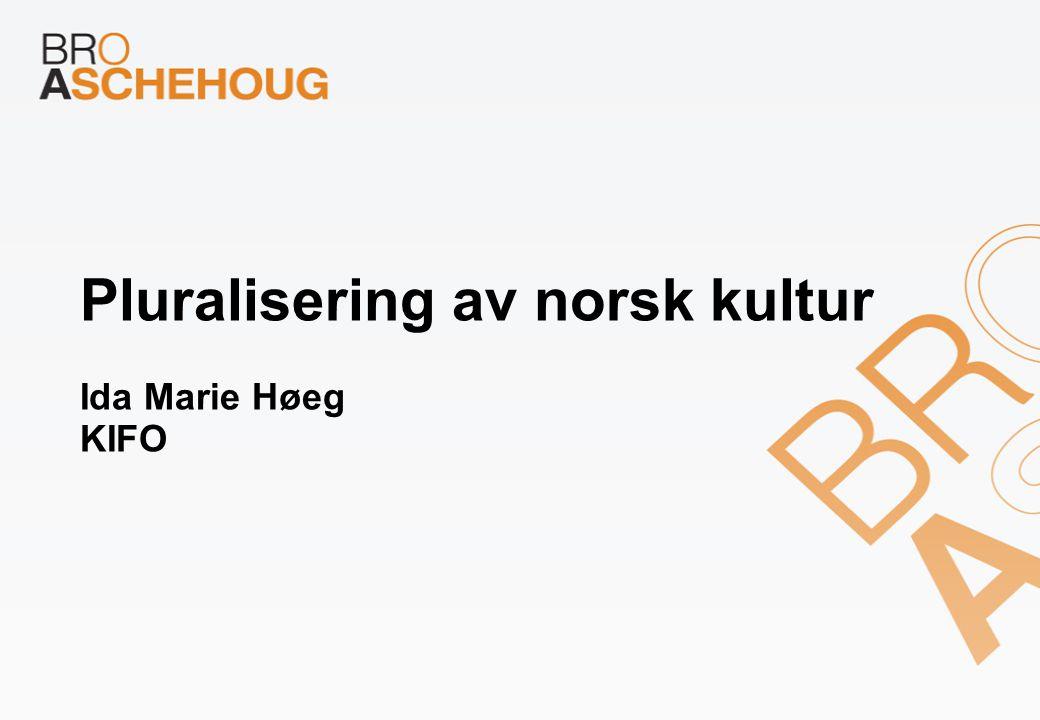 Pluralisering av norsk kultur