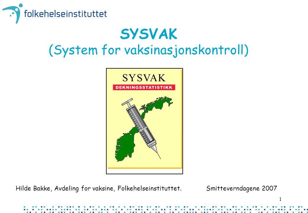 SYSVAK (System for vaksinasjonskontroll)
