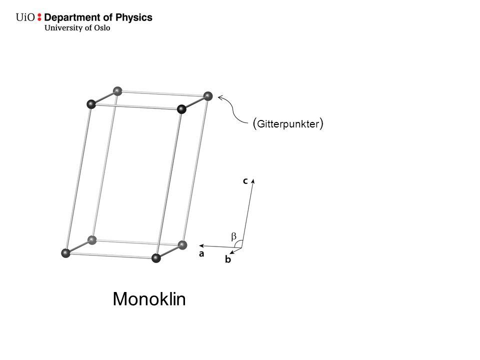(Gitterpunkter) Monoklin
