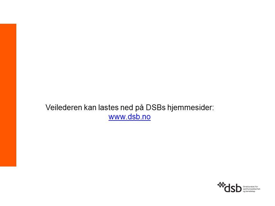 Veilederen kan lastes ned på DSBs hjemmesider: www.dsb.no