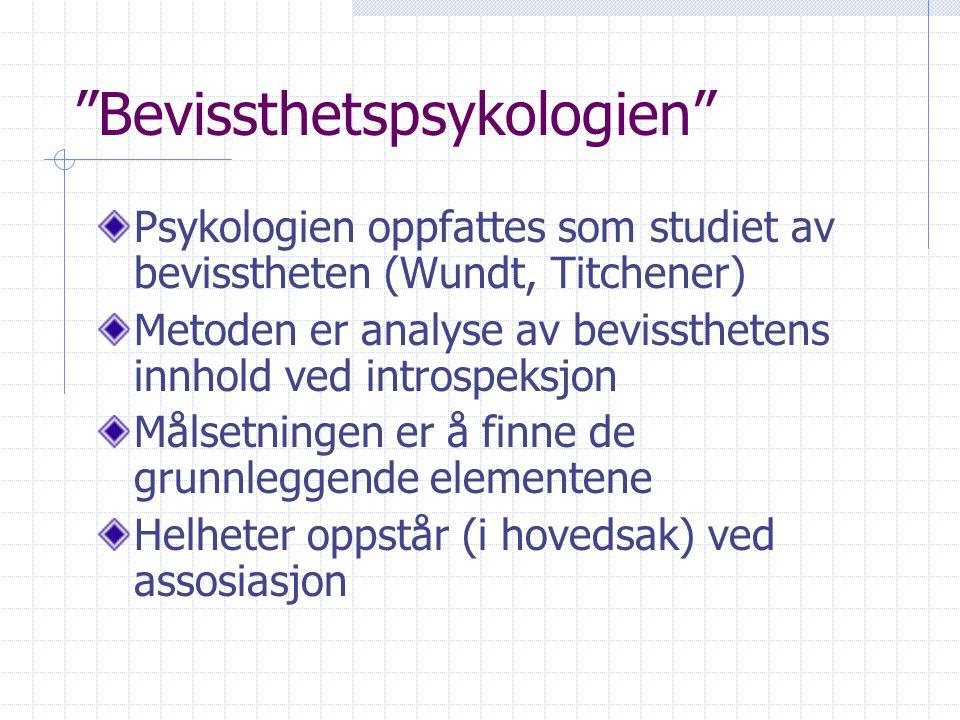 Bevissthetspsykologien