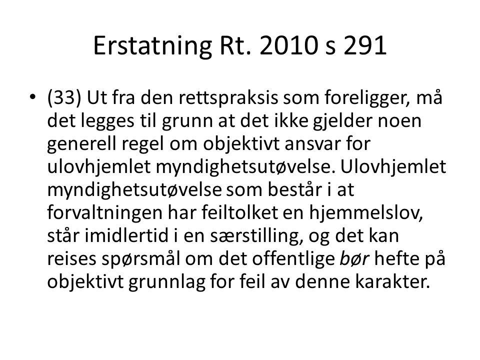 Erstatning Rt. 2010 s 291