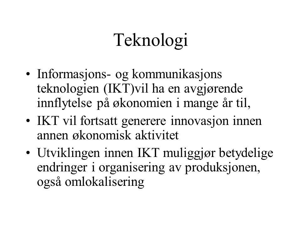 Teknologi Informasjons- og kommunikasjons teknologien (IKT)vil ha en avgjørende innflytelse på økonomien i mange år til,