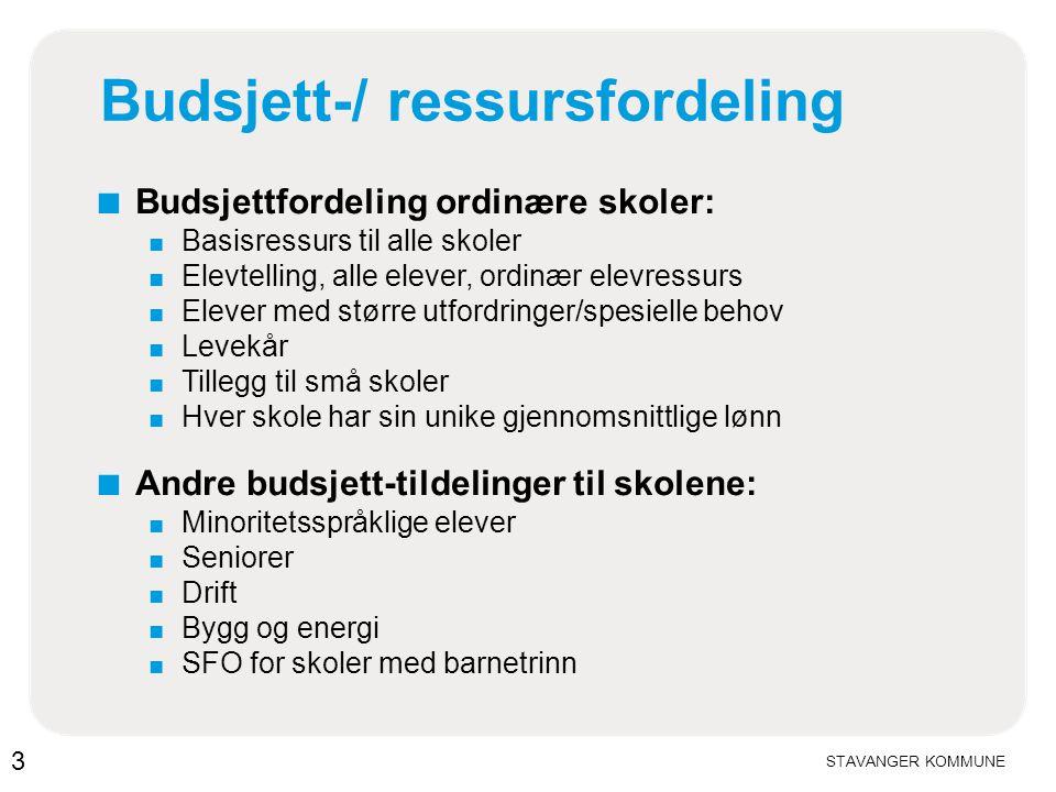 Budsjett-/ ressursfordeling