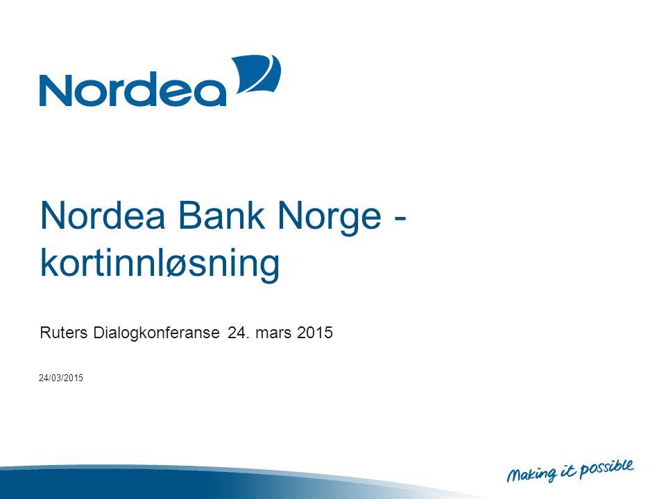 Nordea Bank Norge - kortinnløsning