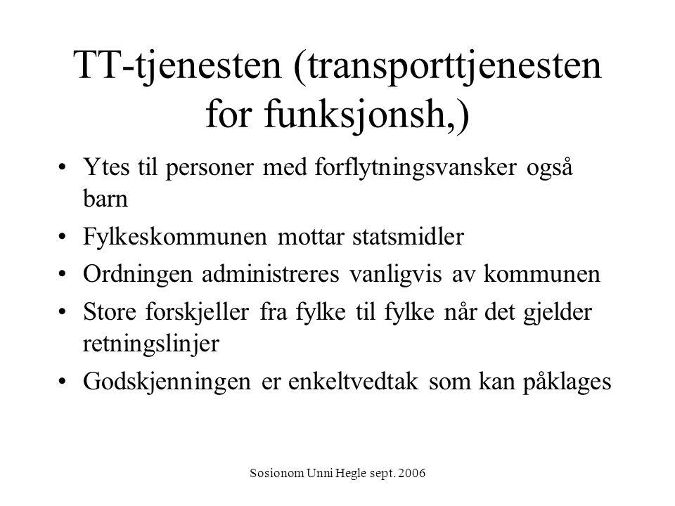 TT-tjenesten (transporttjenesten for funksjonsh,)