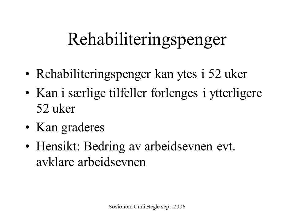 Rehabiliteringspenger