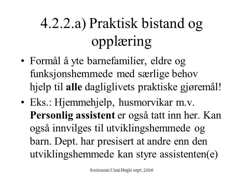 4.2.2.a) Praktisk bistand og opplæring