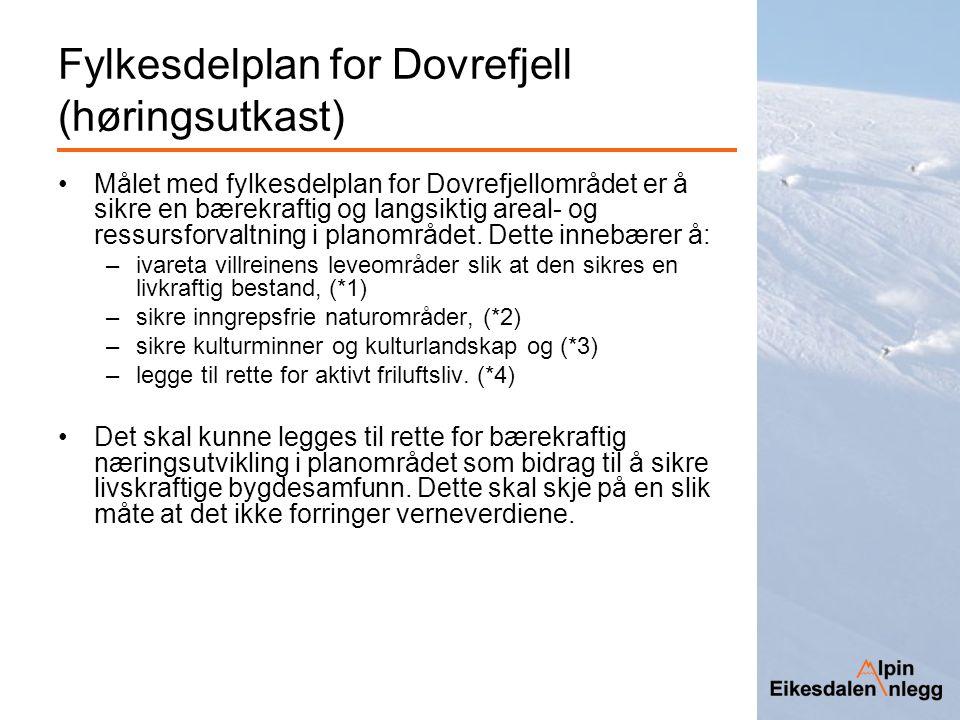 Fylkesdelplan for Dovrefjell (høringsutkast)