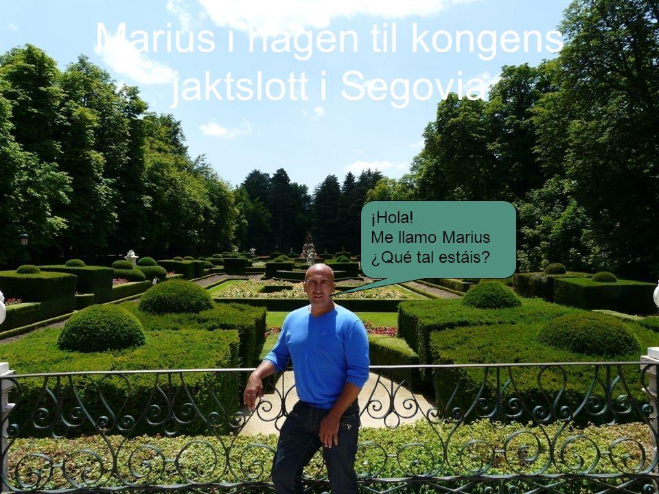 Marius i hagen til kongens jaktslott i Segovia