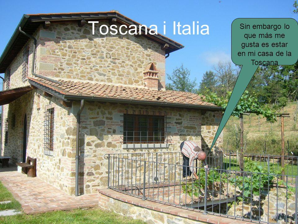 Sin embargo lo que más me gusta es estar en mi casa de la Toscana