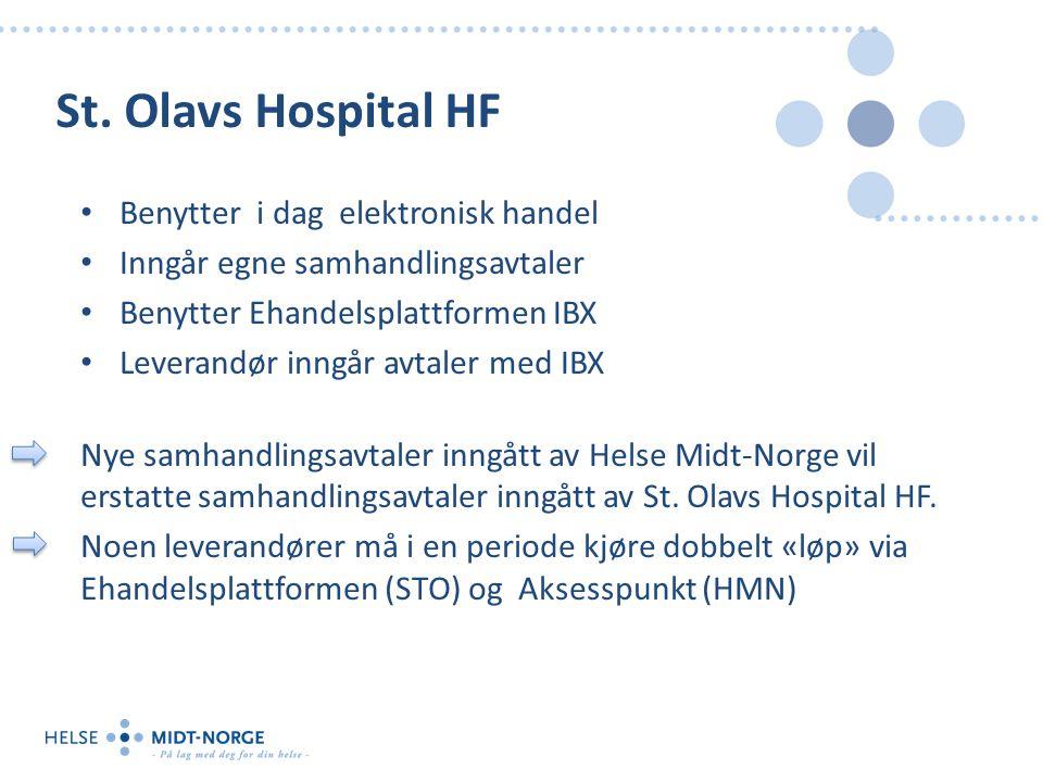 St. Olavs Hospital HF Benytter i dag elektronisk handel