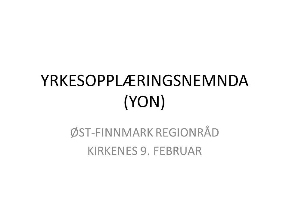 YRKESOPPLÆRINGSNEMNDA (YON)
