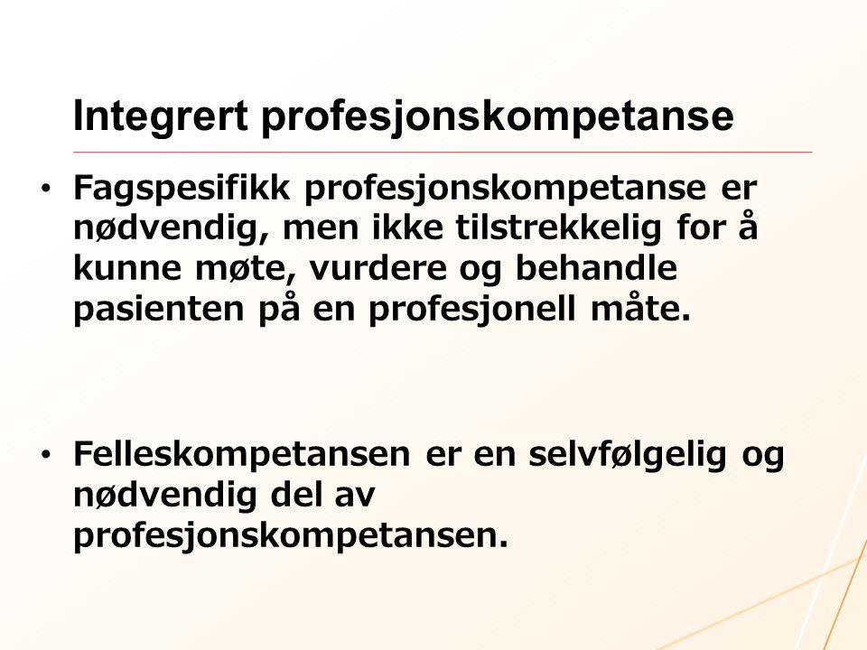 Integrert profesjonskompetanse