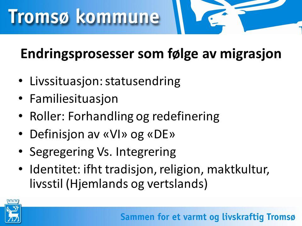 Endringsprosesser som følge av migrasjon