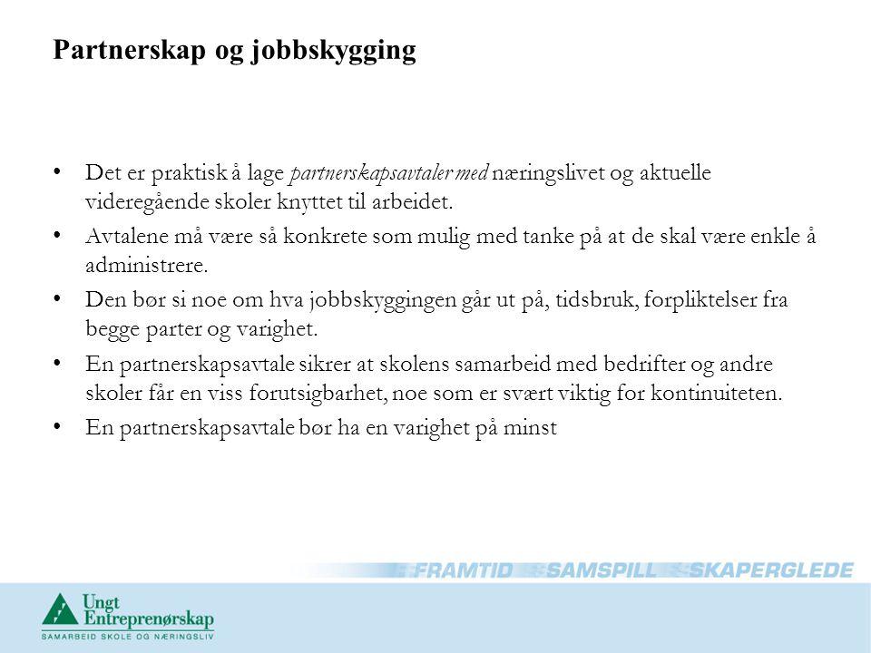 Partnerskap og jobbskygging