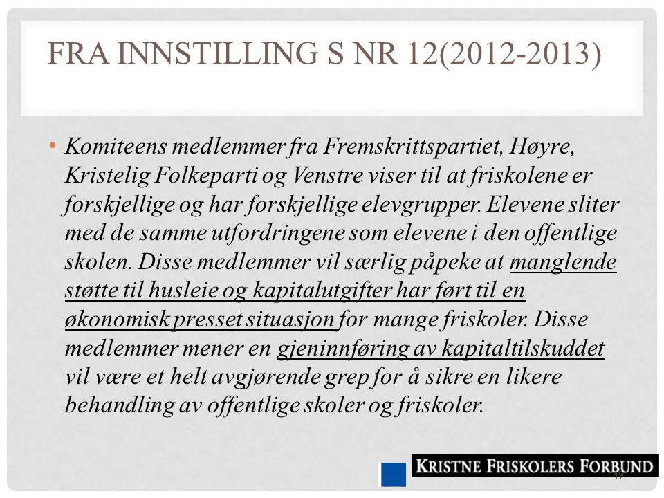 fra Innstilling S nr 12(2012-2013)