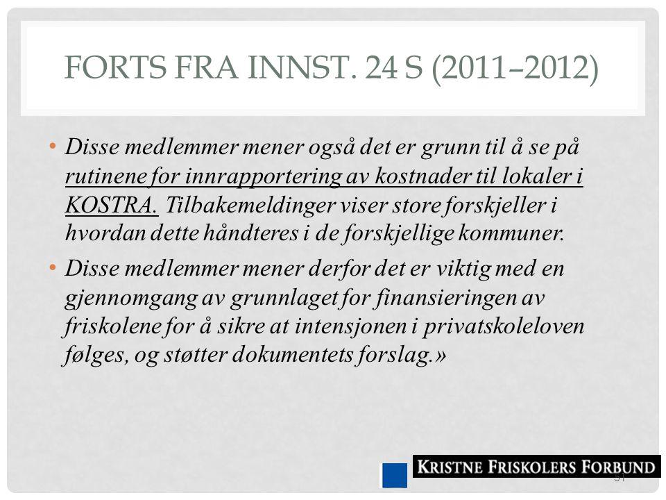 Forts fra Innst. 24 S (2011–2012)