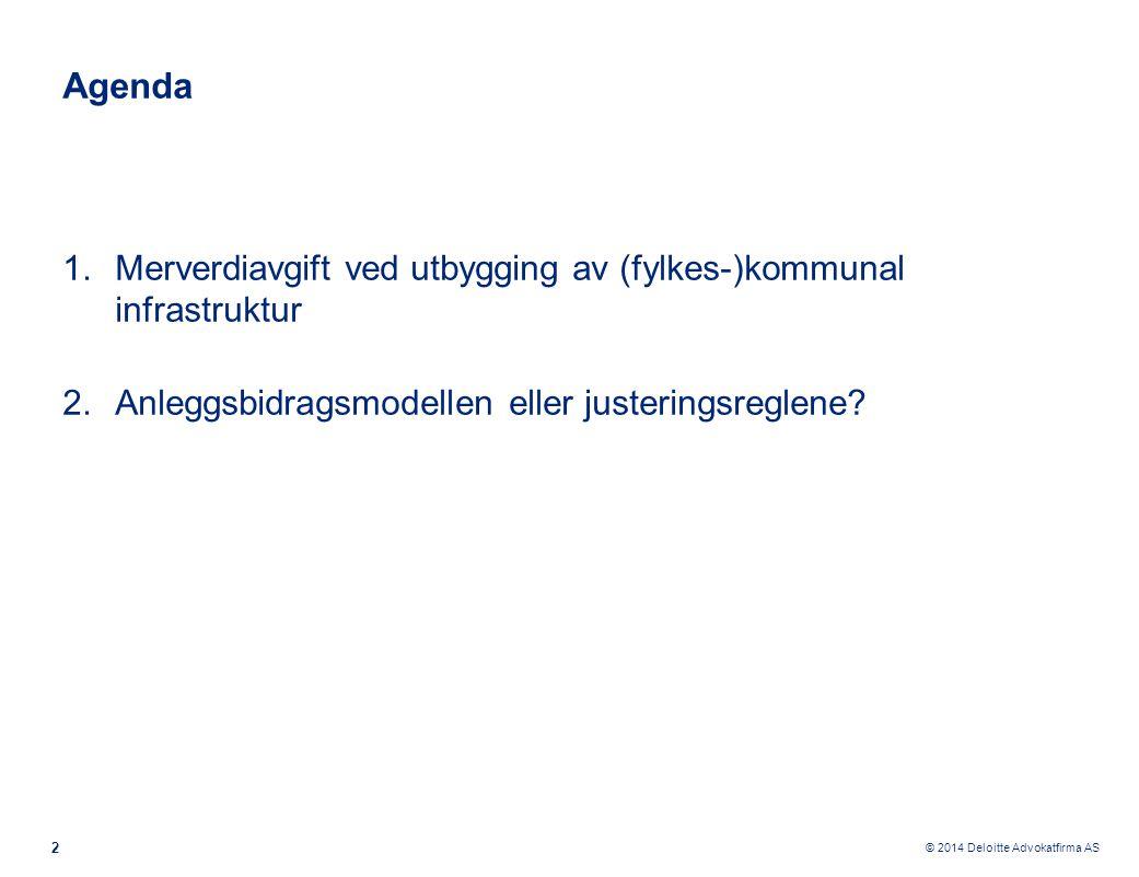Agenda Merverdiavgift ved utbygging av (fylkes-)kommunal infrastruktur