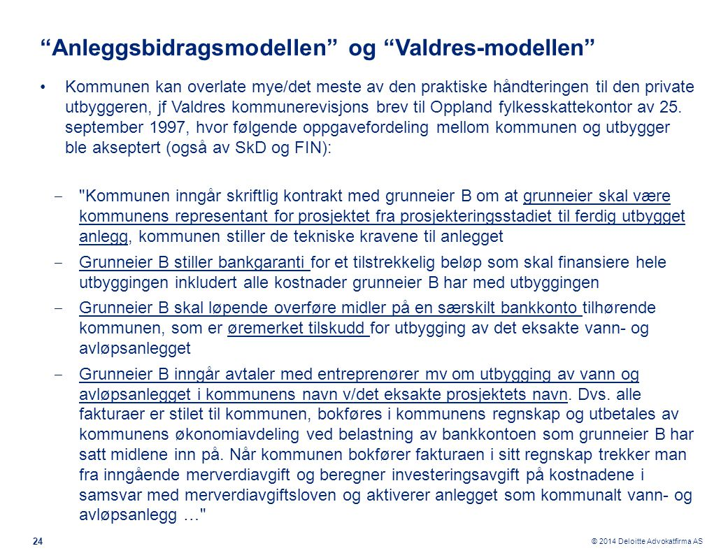 Anleggsbidragsmodellen og Valdres-modellen