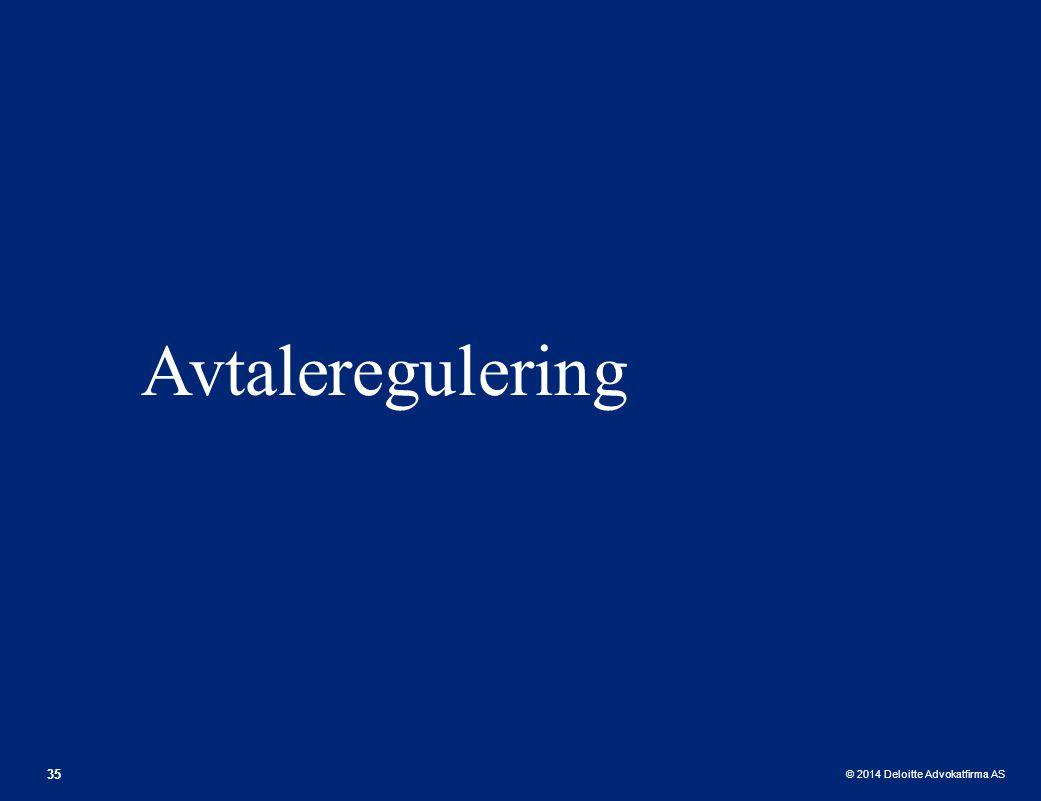 Avtaleregulering