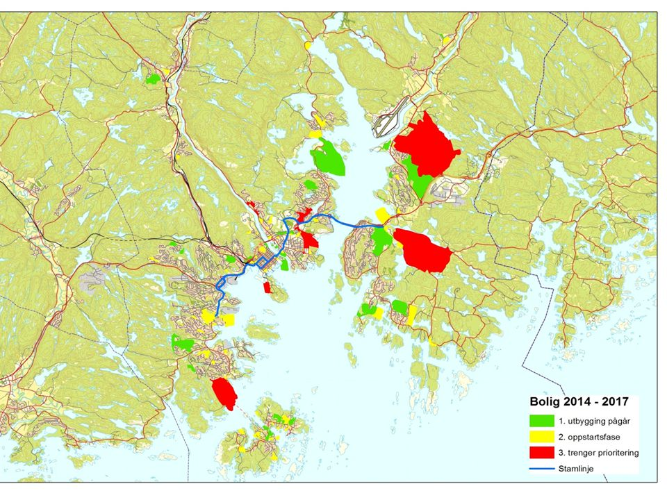 Kart over områdene
