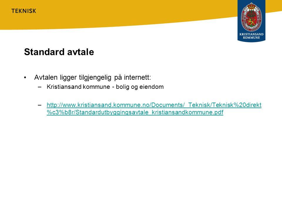 Standard avtale Avtalen ligger tilgjengelig på internett: