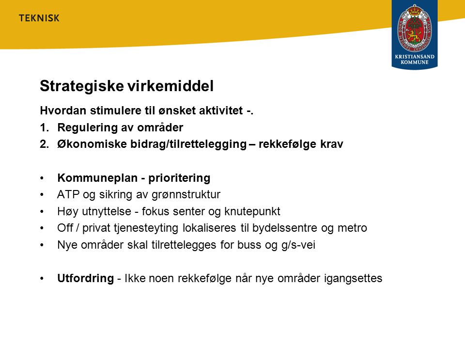 Strategiske virkemiddel