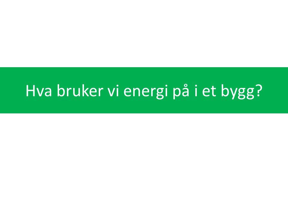 Hva bruker vi energi på i et bygg
