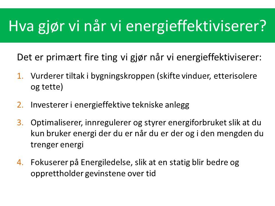 Hva gjør vi når vi energieffektiviserer