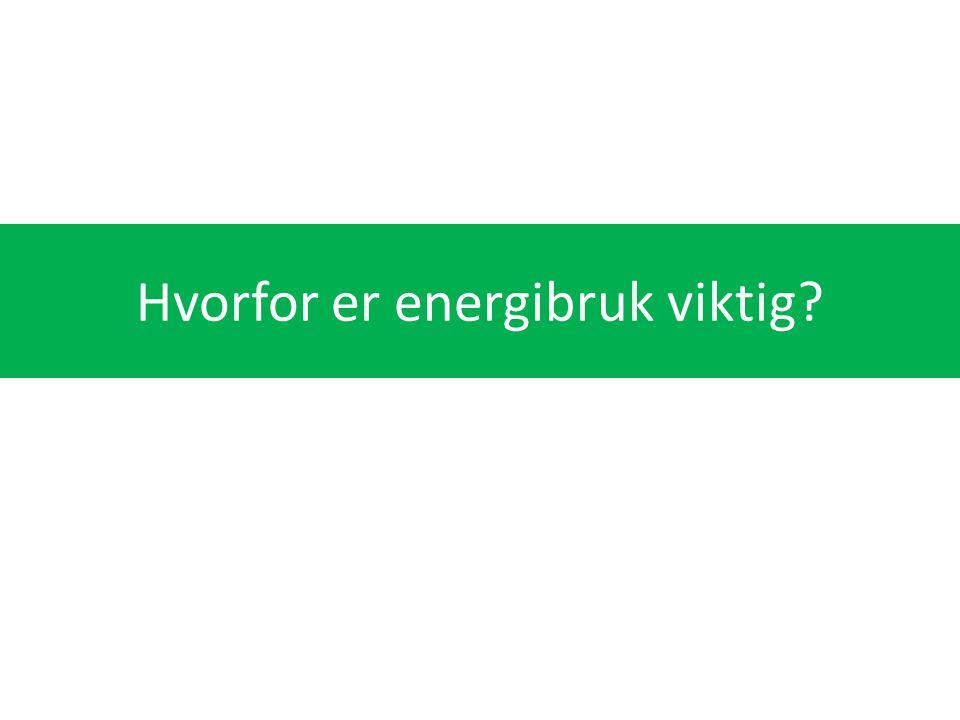 Hvorfor er energibruk viktig